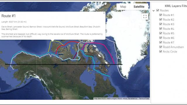 North West Passage Routes